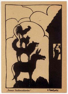 The Bremen Town Musicians from of Aesop's fabel