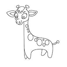Print Coloring Image Cute GiraffeColoring PagesGiraffesFree Printable