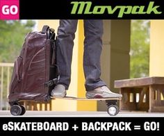 Ready? Set? Go! The all new MovPak is coming which means life is about to get more conveniently & efficiently rad. Are you ready? www.movpak.com #backpack #electricvehicle #skateboard #electricskateboard #urban #city #urbanmobility #mobility #style #urbanstyle #movpak #wearable #foldable #lastmile #commute #commuter #transportation #alternativetransportation #ecofriendly #green #tech #indiegogo #crowdfunding by movpak