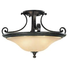 Feiss Cervantes 3-Light Liberty Bronze Uplight Chandelier-F1931/3LBR - The Home Depot