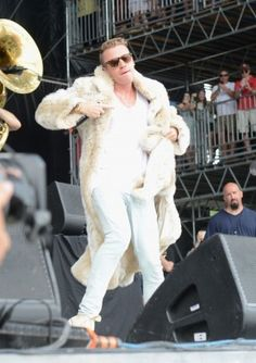 Macklemore performs with Ryan Lewis during the fourth day of the Bonnaroo Music and Arts Festival. #Bonnaroo2013