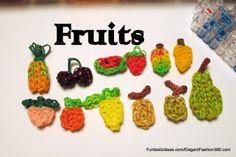 Rainbow Loom fruit charms ♥Subscribe YouTube Channel:  https://www.youtube.com/user/ElegantFashion360  ♥ Sing up for Newsletter: http://elegantfashion360.com
