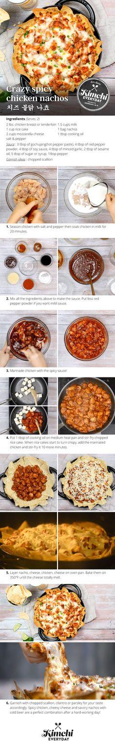 Crazy Spicy Chicken Nachos ~ Korean Food
