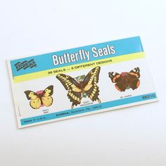 Vintage Butterfly Stickers Seals Butterflies by efinegifts on Etsy