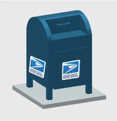 HO Scale Mail Dropbox (Arrives unpainted)