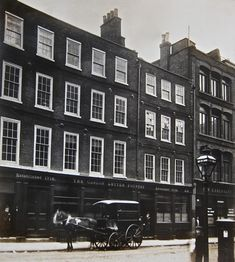 22/23 Chiswell St with Caslon's delivery van outside the foundry