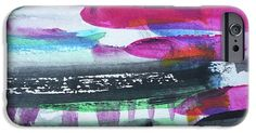 IPhone Case featuring the painting Abstract-19 by Katerina Stamatelos