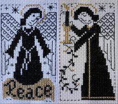 blackwork angels - Prairie Schooler