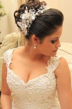 Noiva Andressa! Maravilhosa!  Vestido | Make | Hair Noiva Linda