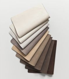 One of our most sensual leathers - ROYAL NUBUCK. Photo: Jonas Bjerre-Poulsen from Norm Architects Colour Pallete, Colour Schemes, Textiles, Fabric Photography, Leather Texture, Leather Fabric, Brown Aesthetic, Hijabs, Pantone
