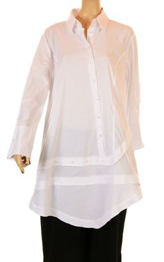Kokomamarina No Ordinary White Asymmetric Shirt - Fab New Season Winter 2012/13-Kokomamarina, lagenlook,