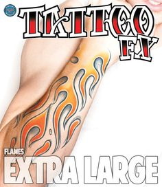 Flames Extra Large Tattoos #temporary #tattoo #temporarytattoos #tribal #flames #xl #tinsleytransfers #t4aw #tattooforaweek #tattoos