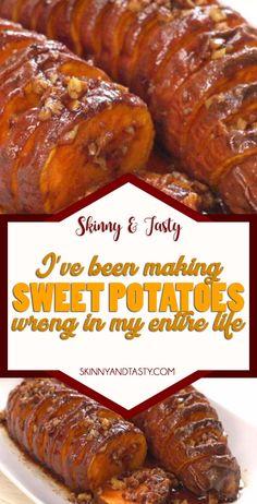 Sweet Potatoes Recipe - Skinny Tasty Recipes - sweet potatoes Recipe, I've Been Making Sweet Potatoes Wrong My Entire Life check my magic method - Potato Side Dishes, Vegetable Side Dishes, Vegetable Recipes, Vegetarian Recipes, Healthy Recipes, Skinny Recipes, Salad Recipes, Side Dish Recipes, New Recipes