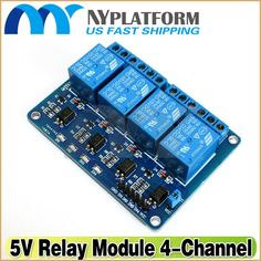 4 Channel 5V Relay Module with Optocoupler for Arduino DSP AVR Pic Arm - 8.4$ ---- HEY HEY!!!  For more COOL ARDUINO stuff, check out http://arduinohq.com