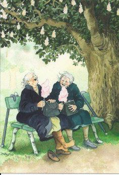 Aunties by Inge Look illustrations. My Paisley World.bl… Aunties by Inge Look illustrations. My Paisley World.bl… This image. Old Folks, Look Older, Pics Art, Friends Forever, Sisters Forever, Old Friends, Friends Set, True Friends, Old Women