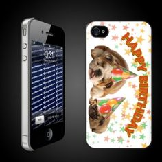 """""""Happy Birthday! Sleepy Dogs"""" - iPhone Hard Case - Clear Protective iPhone4/iPhone 4S Case"""