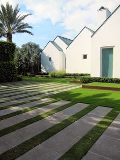 Grass with strips of pavers(?) concrete(?) TARA DILLARD: Blank Wall: Innovation in Design