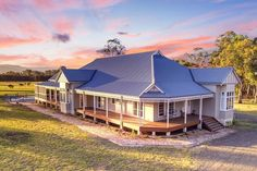 A magnificent example of a Harkaway Home from our Fair Dinkum Federation series located in the Hunter Valley, New South Wales. Lets Celebrate, South Australia, South Wales, Homesteading, Building A House, Architecture Design, Farmhouse, Victorian, Exterior