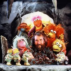 JH with some of the Fraggle Rock Puppets. Another GREAT show from my childhood. RIP Mr. Henson.