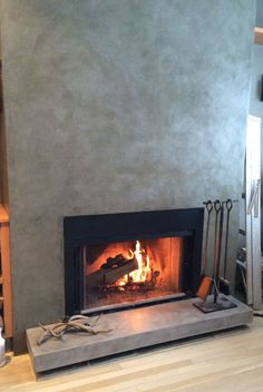 DIY Concrete Fireplace For Less than $100 | Concrete fireplace ...