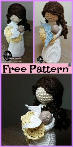 Excellent Picture of Free Pattern Crochet Amigurumi Free Pattern Crochet Amigurumi Crochet Amigurumi Doll Angel Free Patterns Crochet Magic Circle Baby Knitting Patterns, Crochet Amigurumi Free Patterns, Doll Patterns, Doll Amigurumi Free Pattern, Crochet Doll Pattern, Amigurumi Doll, Angel Crochet Pattern Free, Crochet Diy, Crochet Gratis
