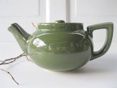 Vintage Pine Green Teapot Hall Single Serve from by tessiemay, $12.00