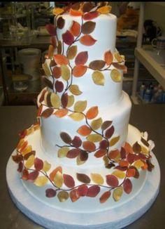 Beautiful fall cake