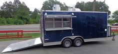 Concession Trailer 8.5 x 17 (Blue) Catering Enclosed Food Cart | 21865 | $19,355.00