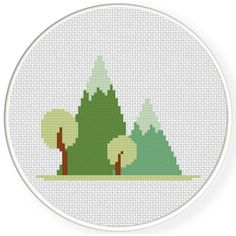 FREE for August 26th 2016 Only -  Wonderful Mountains Cross Stitch Pattern