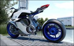 BMW HP Kunst Electric moto ! BMW devient écolo et passe aux motos électriques…