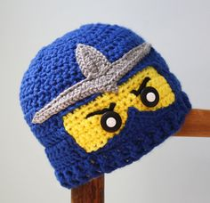 free shipping,Crochet Pattern for Children's Cartoon LEGO Ninjago Hat,baby Photography prop 100% cotton-in Hats & Caps from Apparel & Accessories on Aliexpress.com | Alibaba Group
