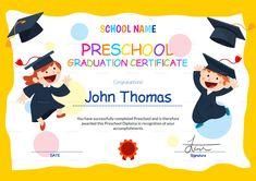 Preschool Certificate Templates Pdf Free Premium Templates for Preschool Graduation Certificate Template Free - Professional Templates Ideas Free Printable Certificate Templates, Graduation Certificate Template, Graduation Templates, Certificate Design Template, Templates Free, Award Certificates, Certificate Programs, Program Template, Design Templates