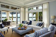blue and white living room | JMA Interior Decoration