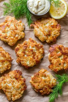 Ingredients Ingredients for Chicken Fritters: 3 large (or 1½ lbs) chicken breasts 2 large eggs ⅓ cup mayonnaise ⅓ cup all-purpose flour (or cornstarch or potato starch for gluten free) 4 oz (or 1⅓ cups shredded)