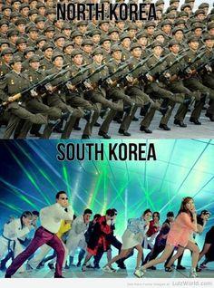 North Korea vs. South Korea