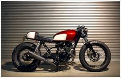 Yamaha TW 200 custom by Vicious Cycles - not thinking about a cafe racer, but this is a great bike