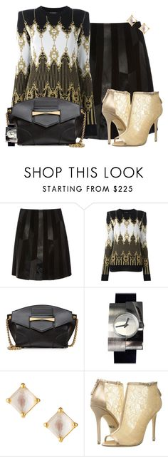 """Untitled #1055"" by kaishabackwards ❤ liked on Polyvore featuring 10 Crosby Derek Lam, Balmain, Alexander McQueen, Pierre Cardin, Ippolita and Badgley Mischka"
