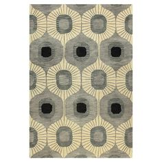 Chelsea Rug in Grey $113.95  Details Hand-tufted wool rug with ogee motif.  Product: Rug Construction Material: 100% Wool Color: Grey Features: Hand-tufted Note: Please be aware that actual colors may vary from those shown on your screen. Accent rugs may also not show the entire pattern that the corresponding area rugs have. Cleaning and Care: Regular vacuuming and spot cleaning recommended  2'6''x8