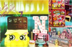 Pera Chapita --- Shopkins birthday party theme., shopkins cake, shopkins party favors. #shopkins
