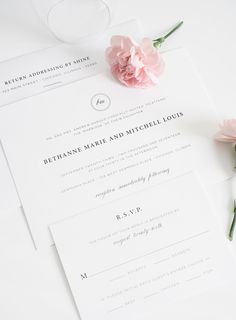 Simple wedding invitations - perfect for a traditional or classy wedding!