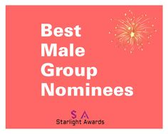 """Male Group Nominees"" by starlight-awards ❤ liked on Polyvore featuring men's fashion and menswear"