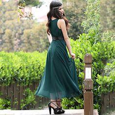 Women's New Sexy Slim Double Chiffon Large Swing Dress – EUR € 22.99
