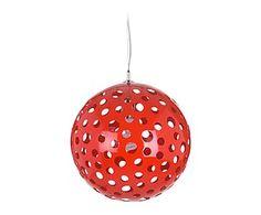 Lámpara de techo en resina - rojo