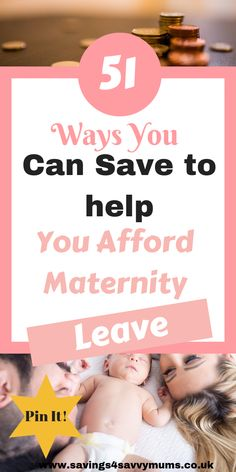 Wondering how youll afford maternity leave? Heres 51 ways to help you prepare for maternity leave without breaking the bank by Laura at Ways To Save Money, Money Saving Tips, How To Make Money, Managing Money, Budgeting Tools, Before Baby, New Hobbies, Working Moms, Pregnancy Tips