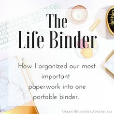 The Life Binder: How I Organized Our Most Important Documents Into One Portable Binder Family Emergency Binder, In Case Of Emergency, Organizing Paperwork, Binder Organization, Project Life Organization, Emergency Preparedness Kit, Emergency Preparation, Survival, Life Binder