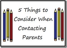 Five Things to Consider When Contacting Parents