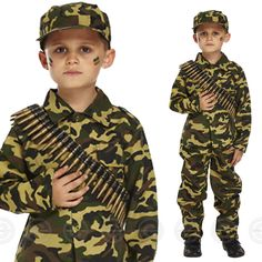 Boys army fancy #dress costume soldier outfit #uniform military kids #childs camo,  View more on the LINK: http://www.zeppy.io/product/gb/2/302136360230/