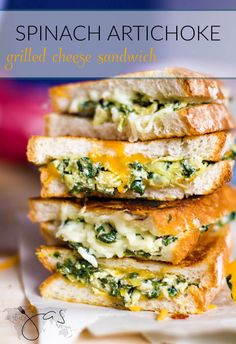 How to make a favorite spinach and artichoke dip into a grilled cheese sandwich.