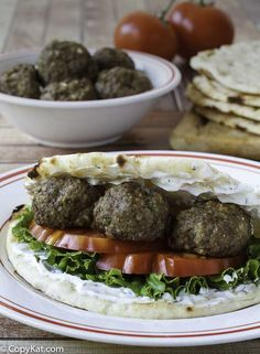 Greek Meatballs made with Lamb