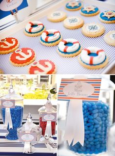 If you're looking for some stylish nautical party inspiration - this beautiful NAUTICAL Christening event by Australian-based Marabous is Nautical Party, Nautical Wedding, First Birthday Parties, First Birthdays, Sailing Party, Party Fiesta, Christening Party, Party Decoration, Party Planning
